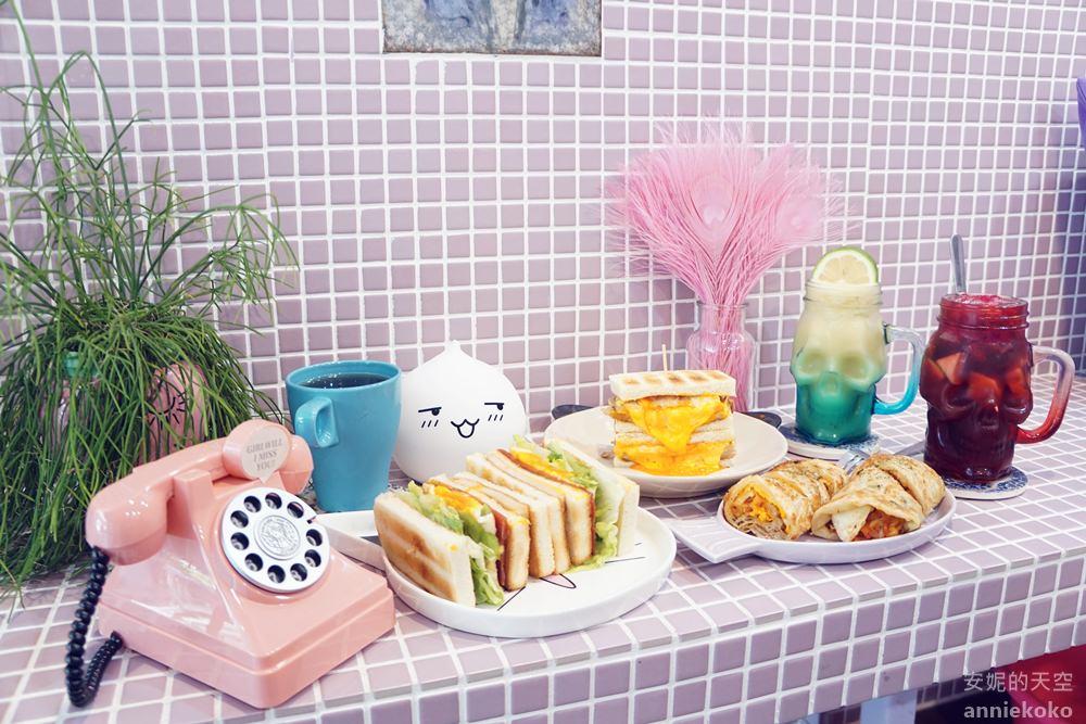 [餓店蒸氣吐司]粉嫩色系餐廳 土司澎派大份量 鄰近台北橋站