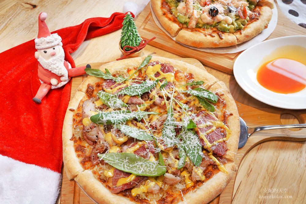 20181129194106 56 - [熱血採訪]萌萌的雪人披薩陪你過耶誕  義大利米蘭手工窯烤披薩 童趣耶誕餐點熱鬧登場