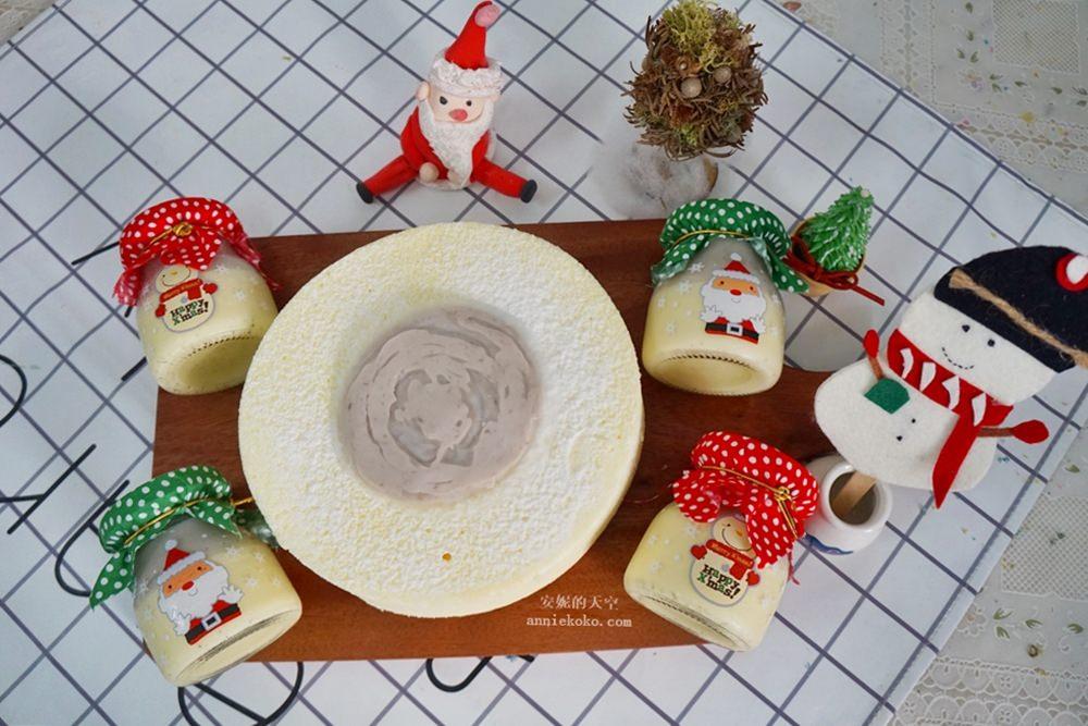 20181210212526 79 - 芋頭控請尖叫 香帥蛋糕 耶誕節限定款 萌萌耶誕風的芋泥燒布丁 就是要擄獲你的心