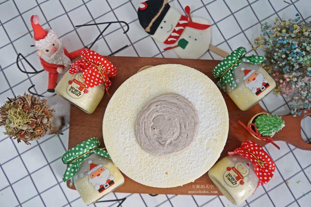 芋頭控請尖叫 香帥蛋糕 耶誕節限定款 萌萌耶誕風的芋泥燒布丁 就是要擄獲你的心