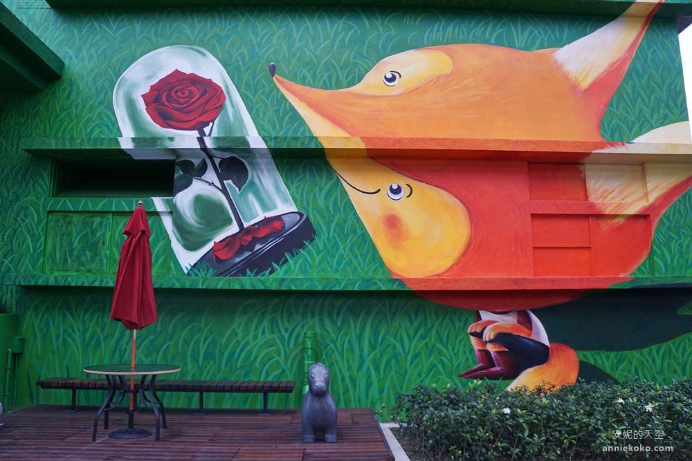 20190401201117 30 - [新北 新月橋]  橫跨新莊板橋的一抹璀璨 熱門打卡點 巨大郵票框 小王子狐狸彩繪牆 白天夜晚都好拍