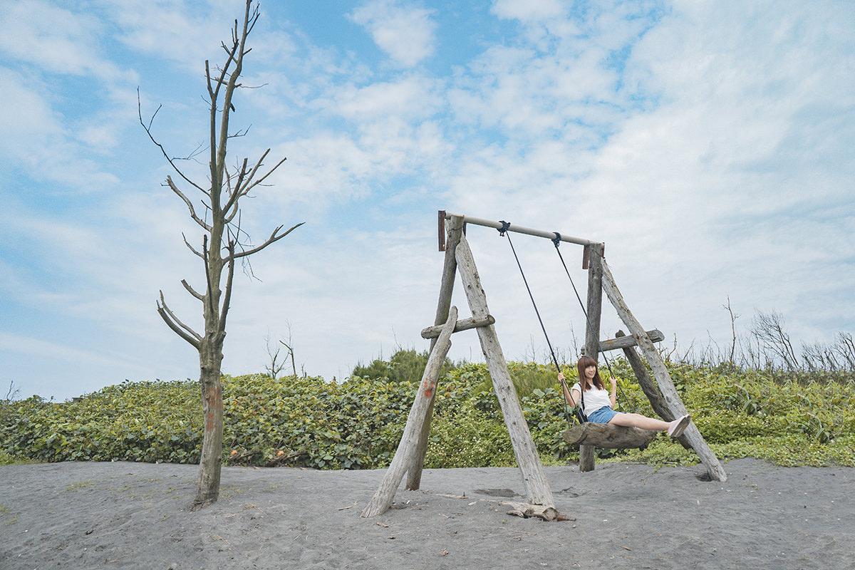 [宜蘭 壯圍] 騎單車漫遊沙丘濱海步道  被海風滋養的小漁村 夢幻沙灘秋千 最適合旅行的東北角小鎮