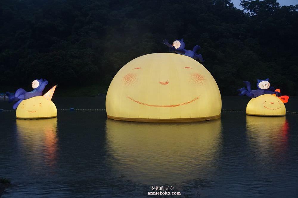 [幾米月亮療癒登場]     微笑月亮萌翻了 碧潭地景藝術期間限定