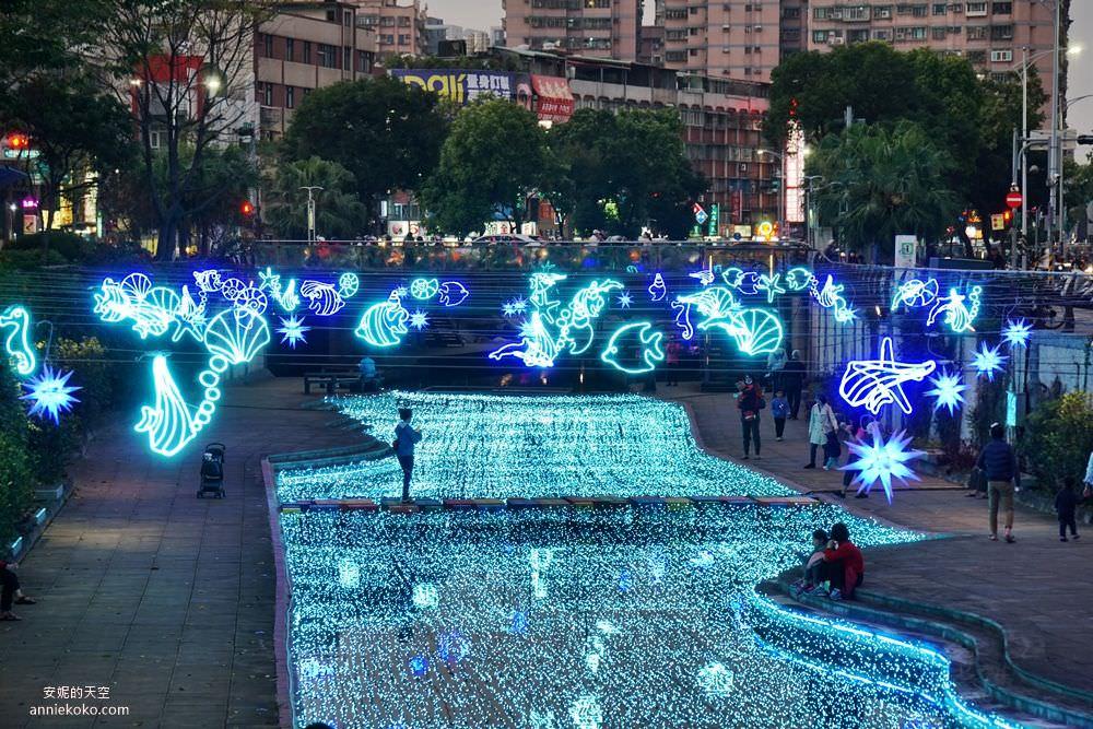 20200212205259 6 - 新莊人拍起來~~~幸福站有夠美  藍調燈海點亮河道 魔幻地球驚艷新莊 幸福這一站