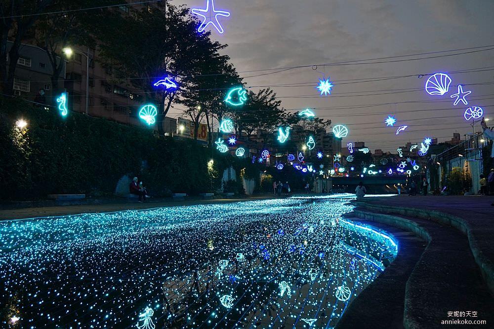 20200212205337 4 - 新莊人拍起來~~~幸福站有夠美  藍調燈海點亮河道 魔幻地球驚艷新莊 幸福這一站