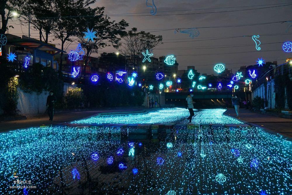 20200212205342 29 - 新莊人拍起來~~~幸福站有夠美  藍調燈海點亮河道 魔幻地球驚艷新莊 幸福這一站