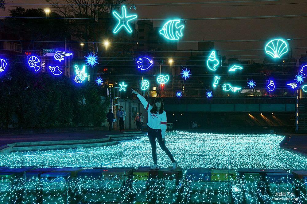 20200212205346 44 - 新莊人拍起來~~~幸福站有夠美  藍調燈海點亮河道 魔幻地球驚艷新莊 幸福這一站