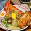 [桃園中壢拉麵 織田信長]太犯規!!!一整隻龍蝦霸氣上桌 日式拉麵與鐵板燒交織的創意  銷魂雞湯拉麵